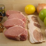 Stuffed Pork Chops with bacon, apples, and walnuts