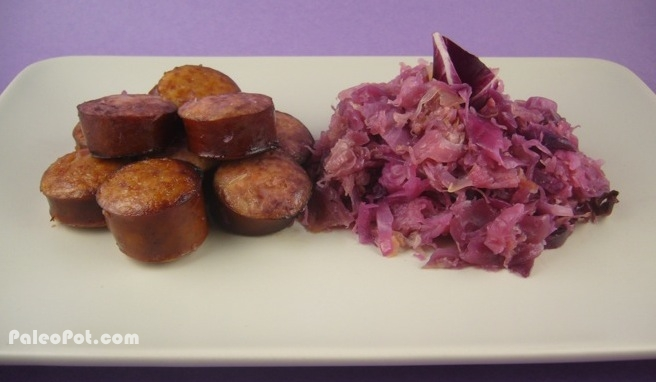 Paleo Pork Roast with Sauerkraut and Kielbasa | Paleo Recipes