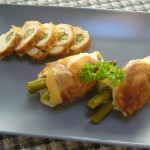 Paleo Slow Cooker Chicken Roll-Ups with Prosciutto and Asparagus