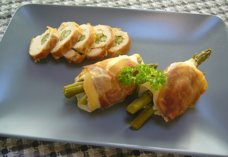 Chicken And Asparagus Rolls