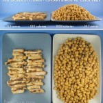 Picture This: Protein Comparison - Chicken vs Chick Peas (Garbanzo Beans).