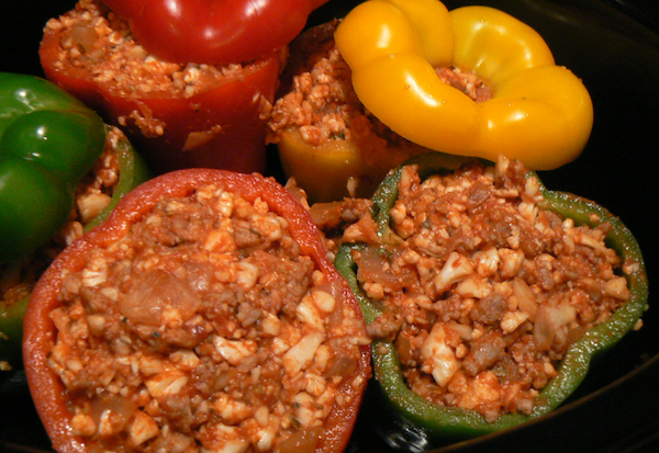 Pork stuffed peppers recipe