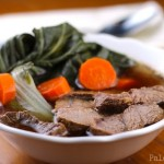 Beef Shank Soup with Bok Choy