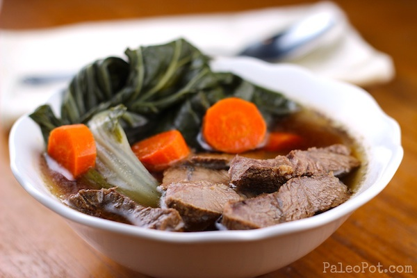 Beef Shank Soup with Bok Choy - PaleoPot