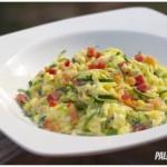 Paleo Spaghetti alla Carbonara (Zucchini Noodles)