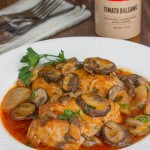 Easy Dutch Oven Balsamic Chicken Marsala